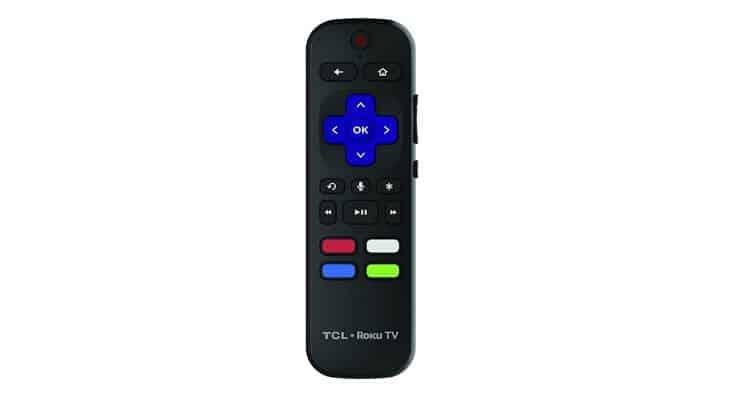 TCL 55R617 small remote