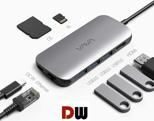 VAVA USB C Hub 8 in 1 Adapter ports