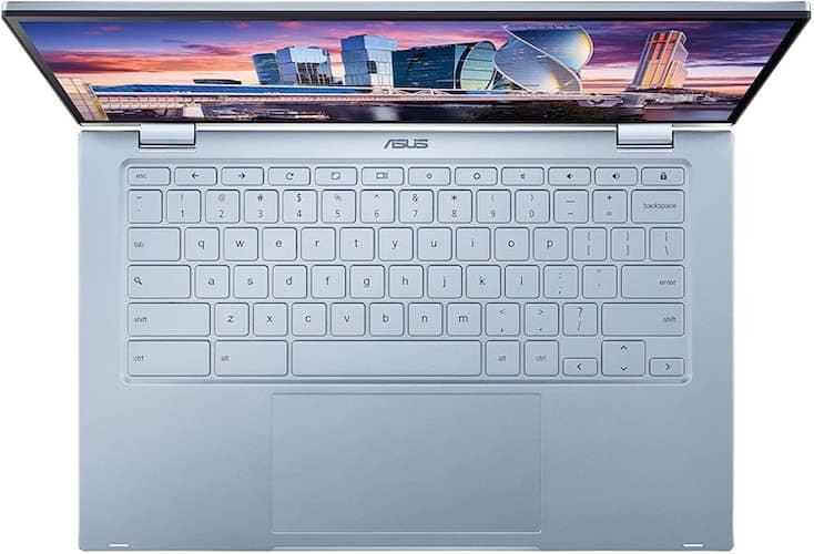 Asus Chromebook Flip C433 C433TA-AS384T Review keyboard