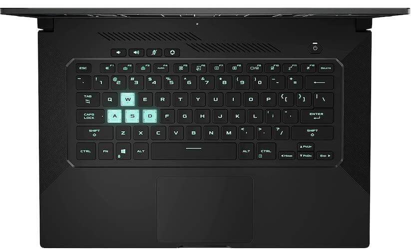 ASUS TUF Dash 15 keyboard